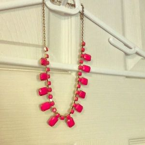 Neon pink necklace